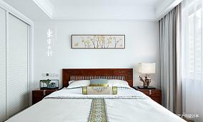 大气96平中式三居卧室图片欣赏三居中式现代家装装修案例效果图