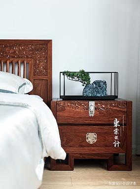 优美88平中式三居卧室设计图三居中式现代家装装修案例效果图