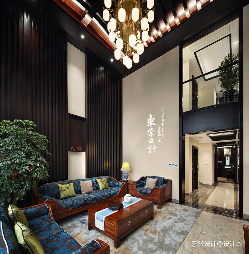 质朴355平中式别墅客厅设计图客厅中式现代客厅设计图片赏析