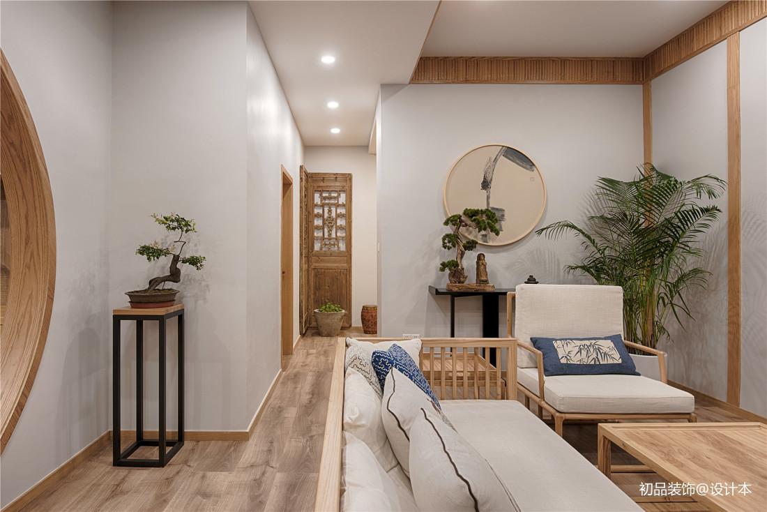 温馨78平中式复式客厅效果图片大全客厅中式现代客厅设计图片赏析