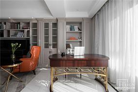 华丽98平美式三居书房设计效果图