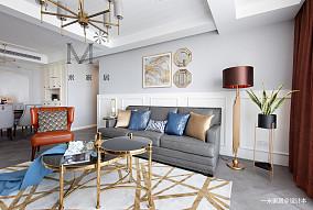 优雅81平美式二居设计案例二居美式经典家装装修案例效果图