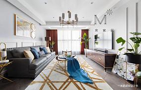 质朴120平美式二居效果图欣赏二居美式经典家装装修案例效果图