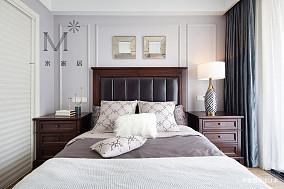 明亮72平美式二居客厅装修设计图二居美式经典家装装修案例效果图