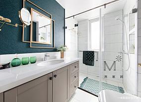 浪漫90平美式二居客厅装修设计图二居美式经典家装装修案例效果图