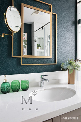 优美70平美式二居装修装饰图二居美式经典家装装修案例效果图