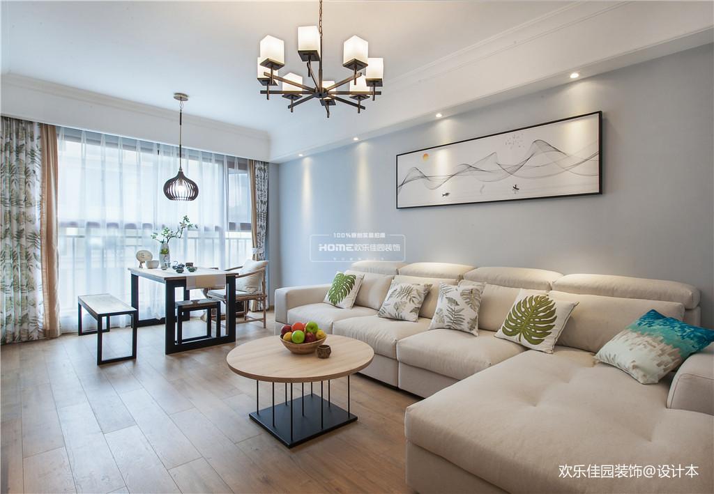轻奢80平北欧三居客厅装饰美图客厅窗帘北欧极简客厅设计图片赏析