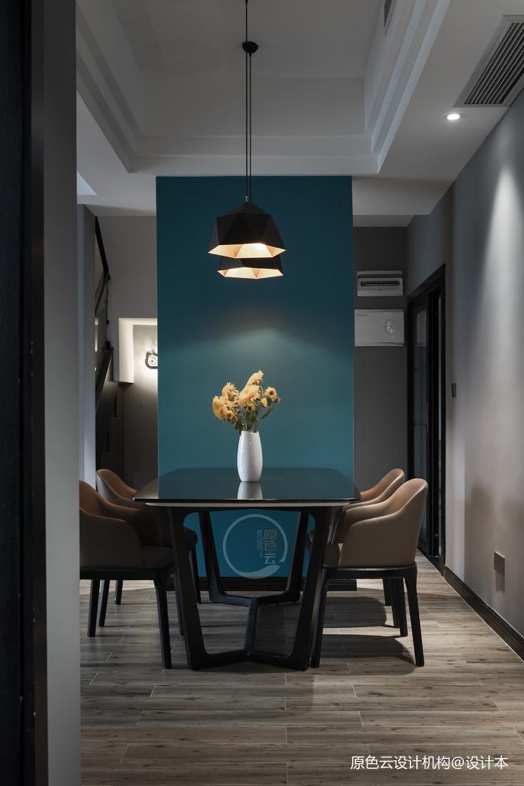 康城简约风跃层三居餐厅装修设计图厨房现代简约餐厅设计图片赏析