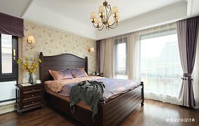 优雅45平中式复式卧室效果图片大全卧室中式现代设计图片赏析