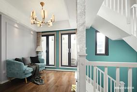 优雅72平中式复式过道装饰美图功能区中式现代设计图片赏析