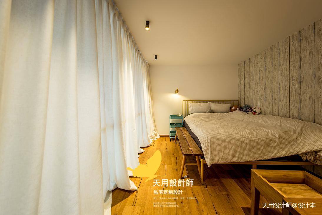精美78平LOFT二居卧室装饰图卧室床头柜潮流混搭卧室设计图片赏析