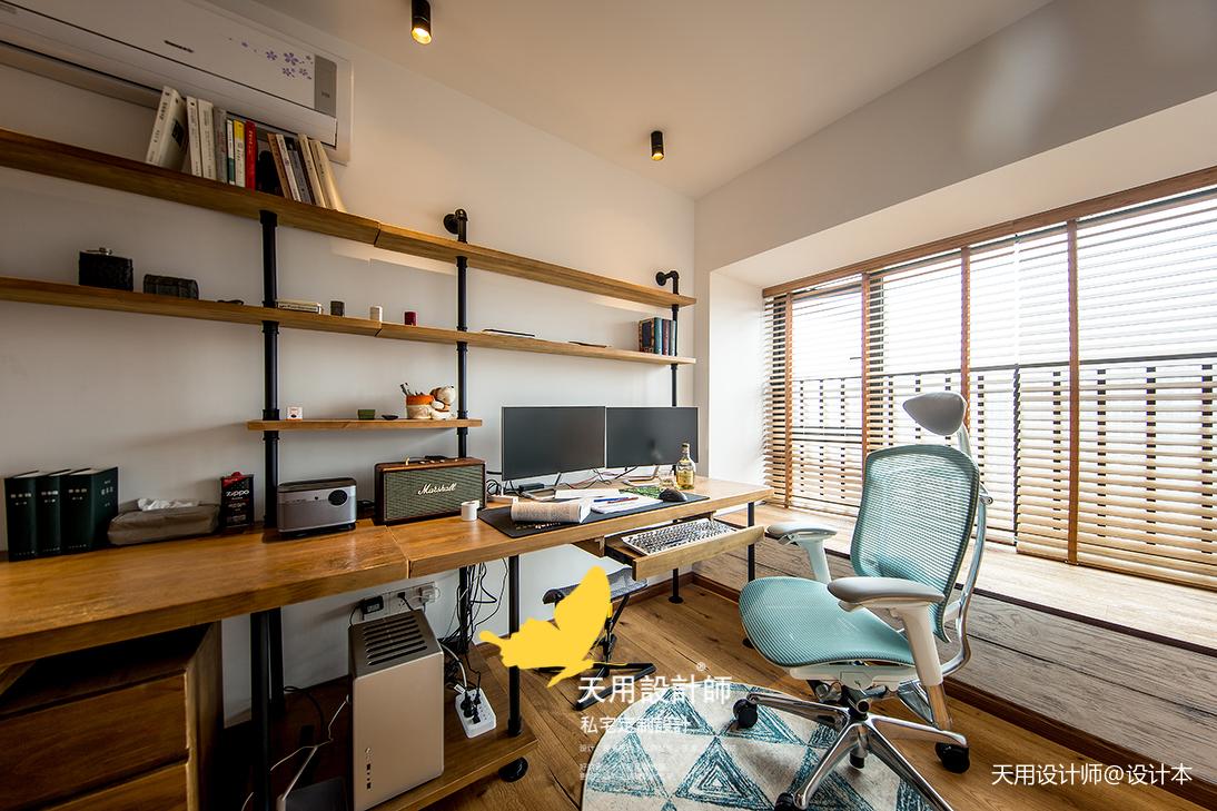 质朴65平LOFT二居书房图片欣赏功能区窗帘潮流混搭功能区设计图片赏析