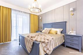 明亮54平美式二居卧室设计效果图