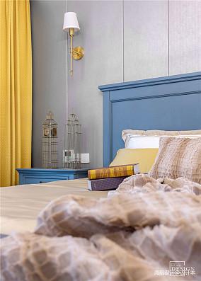 悠雅68平美式二居卧室装修效果图