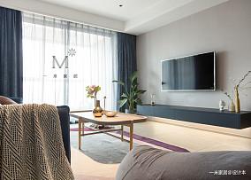 典雅85平北欧二居客厅装修美图二居北欧极简家装装修案例效果图
