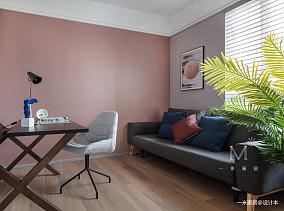 平北欧二居客厅装修美图二居北欧极简家装装修案例效果图