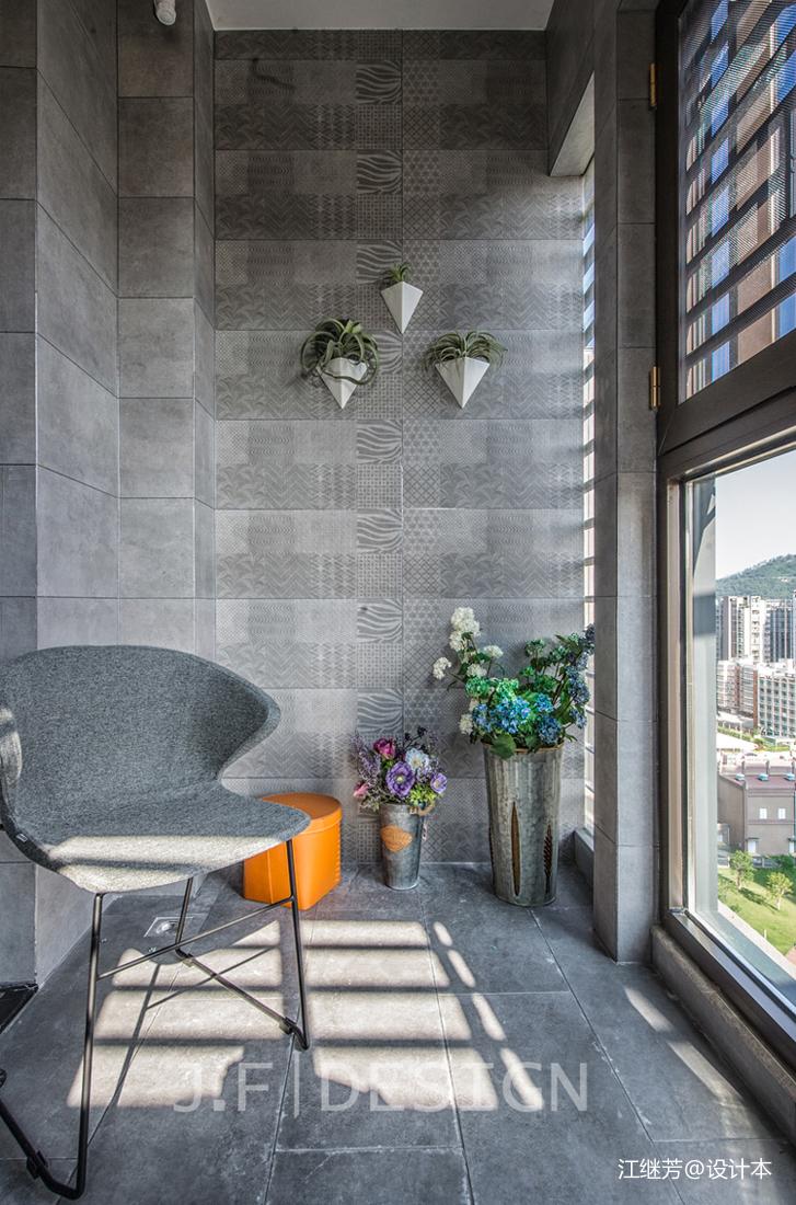悠雅100平现代四居阳台设计美图阳台现代简约阳台设计图片赏析