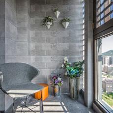 悠雅100平现代四居阳台设计美图