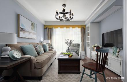 华丽94平美式三居客厅效果图片大全