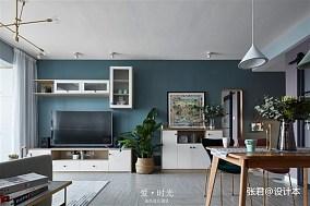 优雅67平北欧二居客厅装潢图