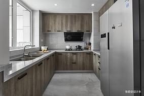 优美113平现代三居厨房装饰图