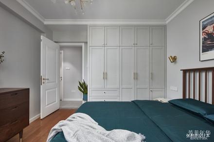 华丽120平北欧三居卧室效果图欣赏卧室