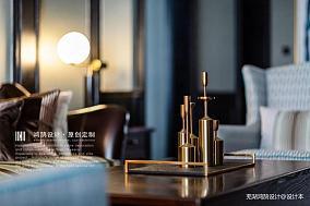 质朴93平美式三居客厅装饰图三居美式经典家装装修案例效果图