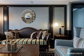 典雅122平美式三居客厅设计图三居美式经典家装装修案例效果图