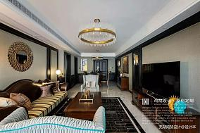 优雅85平美式三居客厅图片大全三居美式经典家装装修案例效果图