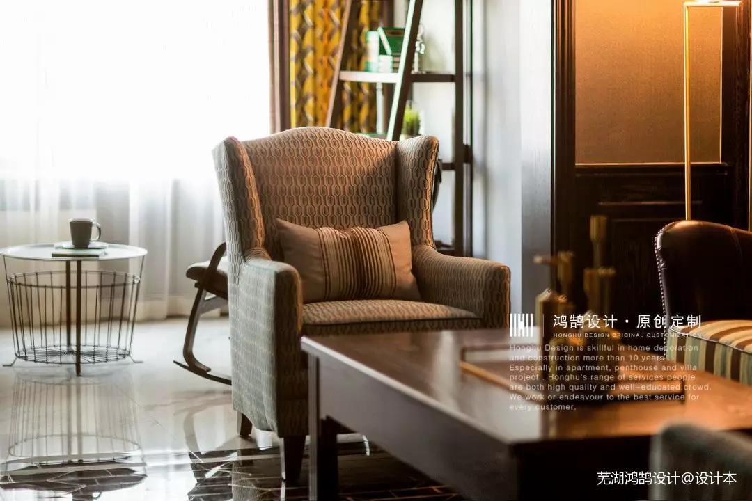 悠雅140平美式三居客厅装修图片三居美式经典家装装修案例效果图