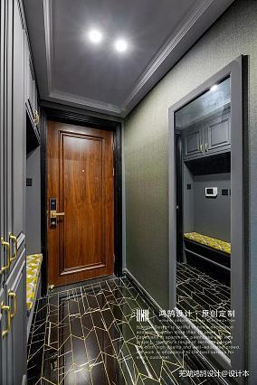 浪漫124平美式三居玄关装饰图片三居美式经典家装装修案例效果图