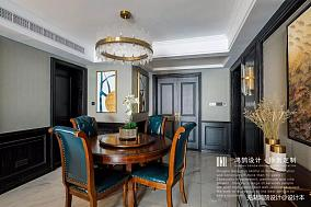 质朴104平美式三居餐厅实拍图三居美式经典家装装修案例效果图