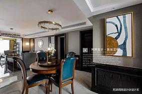 典雅109平美式三居餐厅效果图三居美式经典家装装修案例效果图
