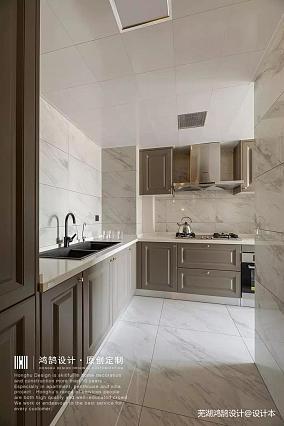 三居美式厨房设计三居美式经典家装装修案例效果图