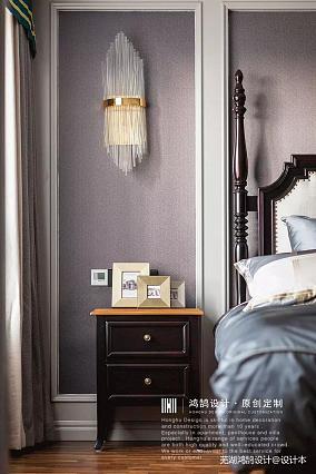 华丽100平美式三居卧室效果图三居美式经典家装装修案例效果图