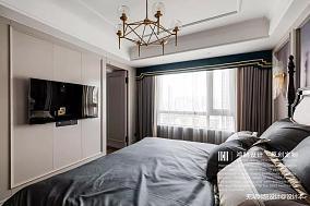 大气100平美式三居卧室实景图三居美式经典家装装修案例效果图