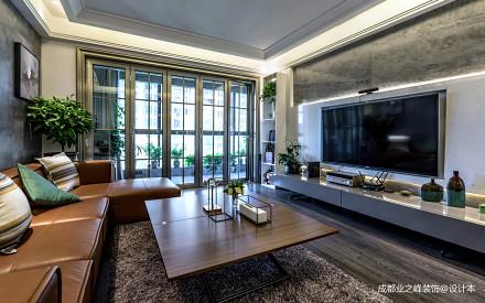 精致362平现代别墅客厅布置图