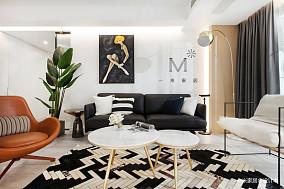 明亮84平现代二居客厅设计美图二居现代简约家装装修案例效果图