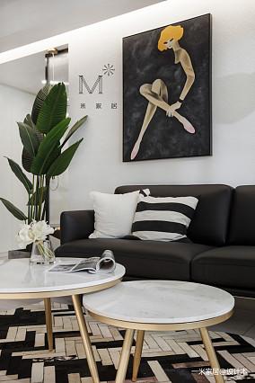 浪漫57平现代二居设计效果图二居现代简约家装装修案例效果图
