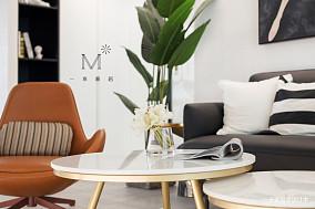 简洁73平现代二居案例图二居现代简约家装装修案例效果图