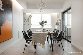 华丽87平现代二居餐厅实景图二居现代简约家装装修案例效果图