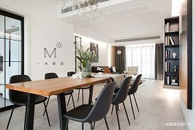温馨89平现代二居餐厅装修图二居现代简约家装装修案例效果图