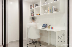 儿童书房设计二居现代简约家装装修案例效果图