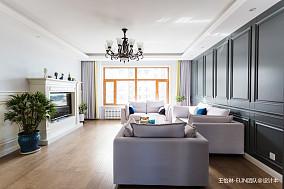 华丽150平美式三居客厅效果图