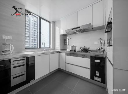 精美112平现代四居厨房实景图片餐厅
