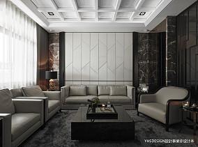 简洁225平新古典别墅客厅装修美图