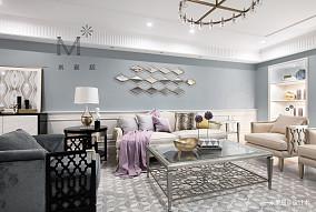 优雅66平美式二居装修装饰图二居美式经典家装装修案例效果图