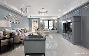平美式二居装修装饰图二居美式经典家装装修案例效果图