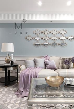 华丽76平美式二居客厅装修设计图二居美式经典家装装修案例效果图