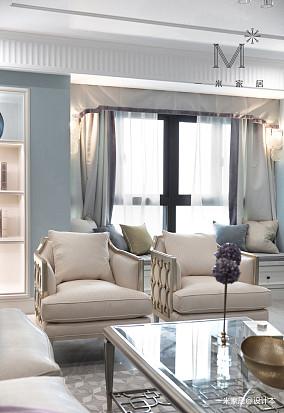 温馨55平美式二居设计图二居美式经典家装装修案例效果图
